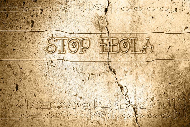 Fermi l'ebola royalty illustrazione gratis