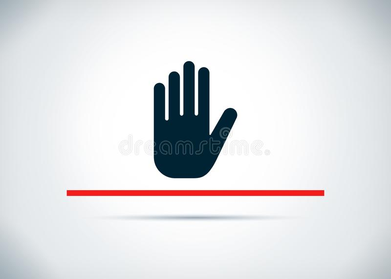 Fermi l'illustrazione piana di progettazione del fondo dell'estratto dell'icona della mano illustrazione vettoriale