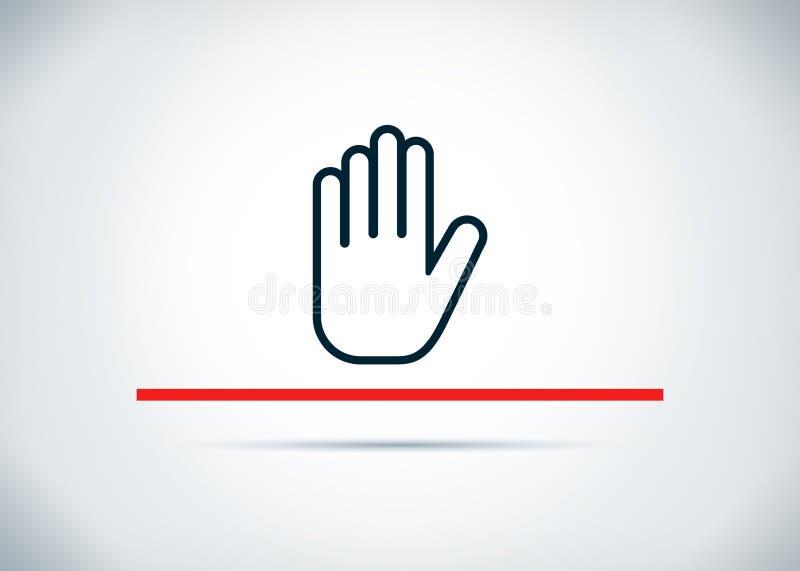 Fermi l'illustrazione piana di progettazione del fondo dell'estratto dell'icona della mano illustrazione di stock