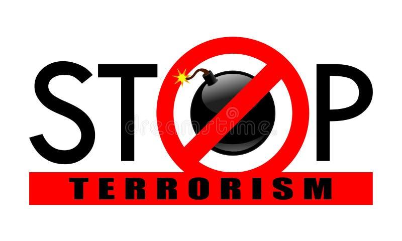 Fermi l'insegna del terrorismo illustrazione di stock