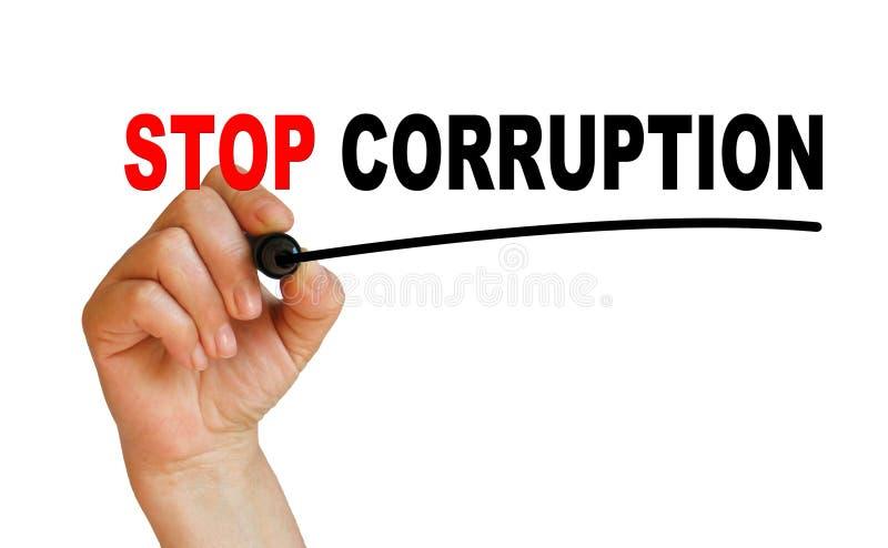 Fermi la corruzione illustrazione di stock
