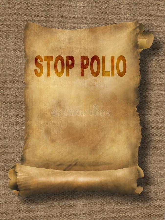 Fermi la polio illustrazione di stock