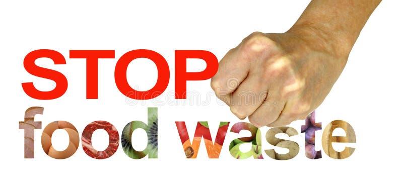 FERMI la protesta di campagna dei rifiuti alimentari fotografie stock libere da diritti