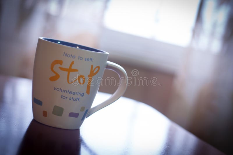 Fermi la tazza fotografie stock
