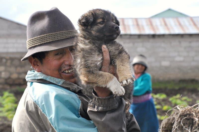 Fermiers d'Ecuadorian images stock