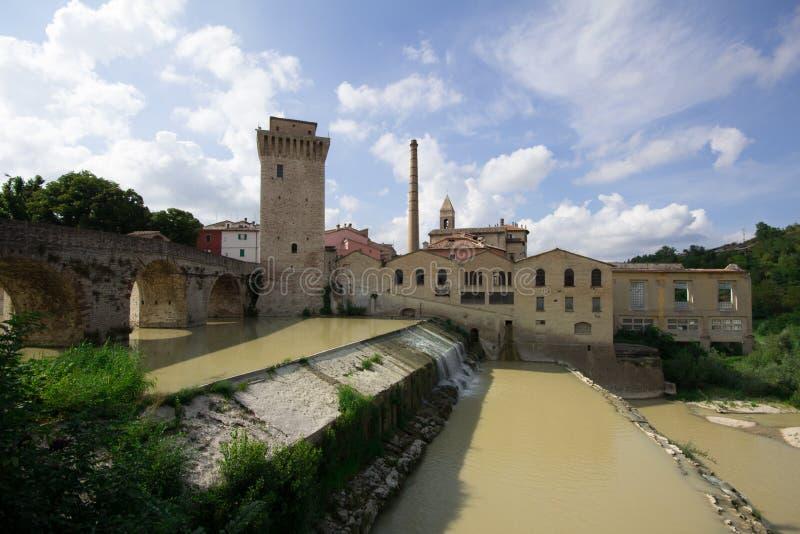 Fermignano. Image of Fermignano village in Italy royalty free stock images