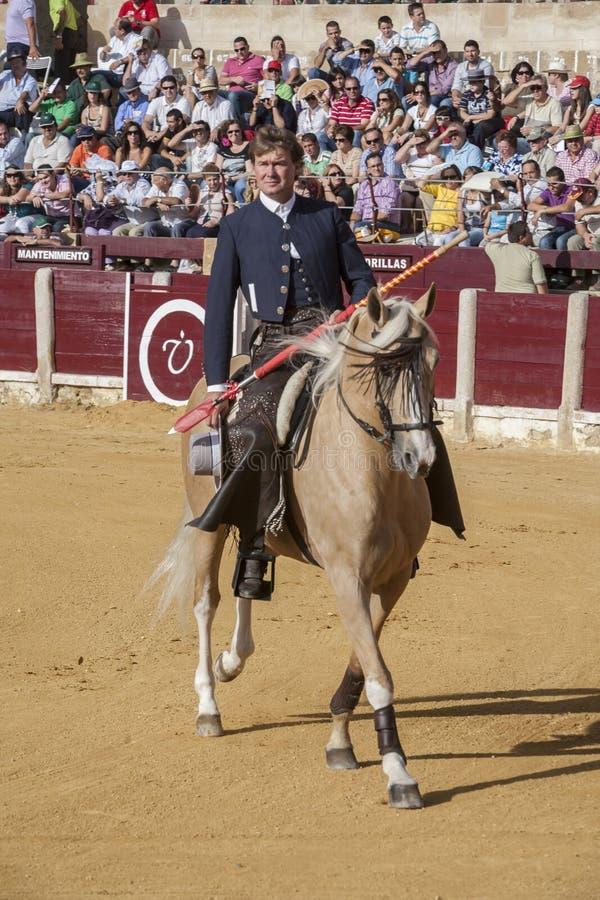 Fermin Bohorquez, bullfighter on horseback spanish, Ubeda, Jaen, Spain. Ubeda, SPAIN - October 2, 2010: Fermin Bohorquez, bullfighter on horseback spanish, in royalty free stock photos