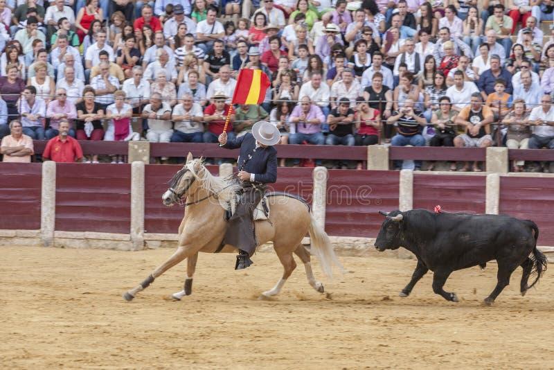 Fermin Bohorquez, bullfighter on horseback spanish, Ubeda, Jaen, Spain. Ubeda, SPAIN - October 2, 2010: Fermin Bohorquez, bullfighter on horseback spanish, in stock photo