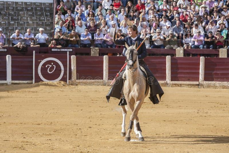 Fermin Bohorquez, bullfighter on horseback spanish, Ubeda, Jaen, Spain. Ubeda, SPAIN - October 2, 2010: Fermin Bohorquez, bullfighter on horseback spanish, in stock images