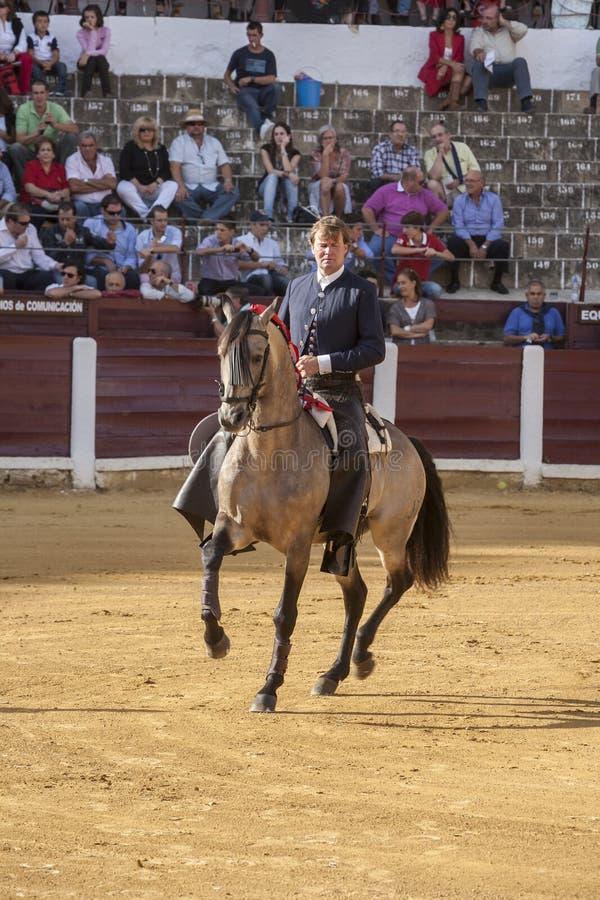 Fermin Bohorquez, bullfighter on horseback spanish, Ubeda, Jaen, Spain. Ubeda, SPAIN - October 2, 2010: Fermin Bohorquez, bullfighter on horseback spanish, in stock photos