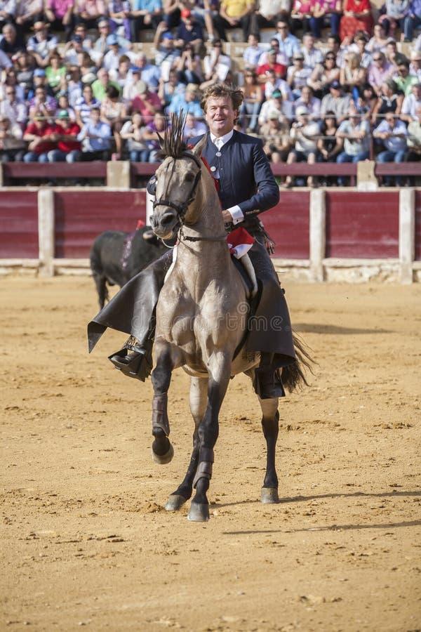 Fermin Bohorquez, bullfighter on horseback spanish, Ubeda, Jaen, Spain. Ubeda, SPAIN - September 2, 2010: Fermin Bohorquez, bullfighter on horseback spanish, in stock images