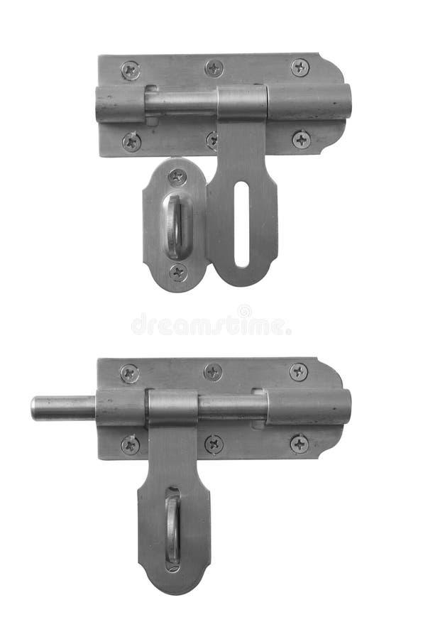 Download Fermo Del Metallo Isolato Su Bianco Immagine Stock - Immagine di obbligazione, bianco: 30829009