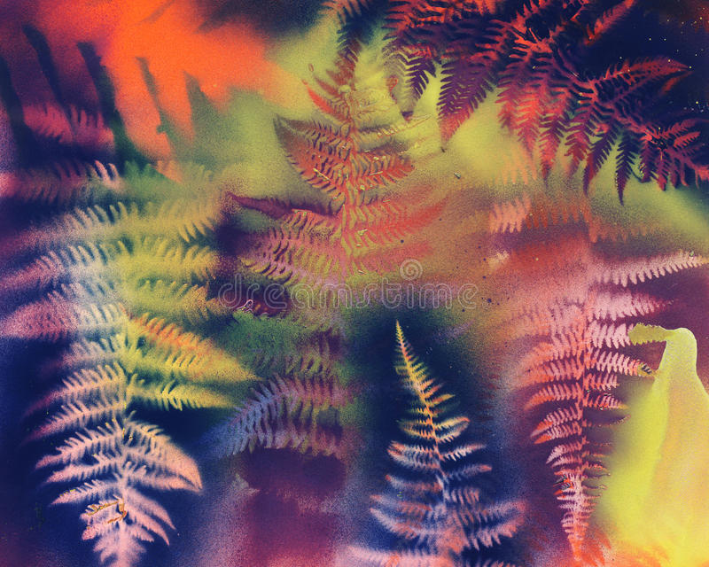 Fern Abstract stock afbeelding