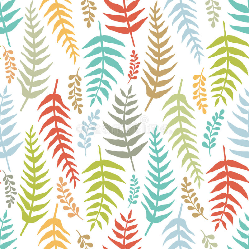 Download Fern Colorful Seamless Background Stock Vector - Image: 36982433