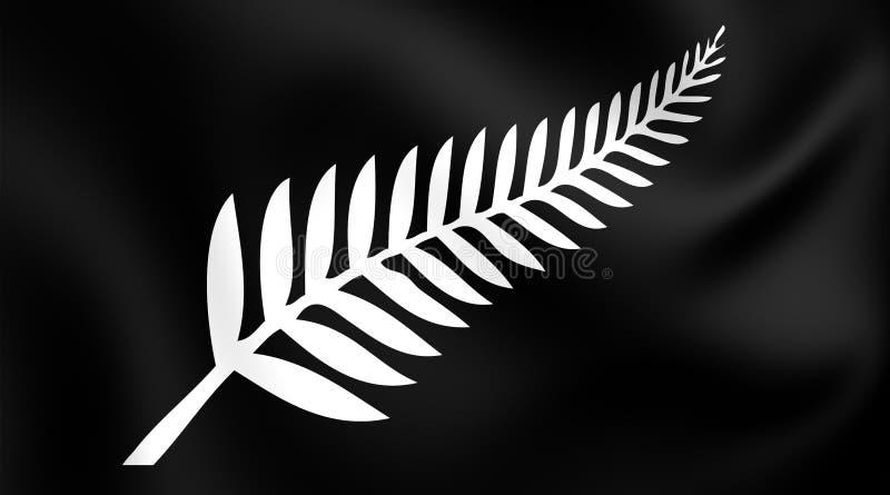 Fern Flag argenté, Nouvelle-Zélande illustration libre de droits