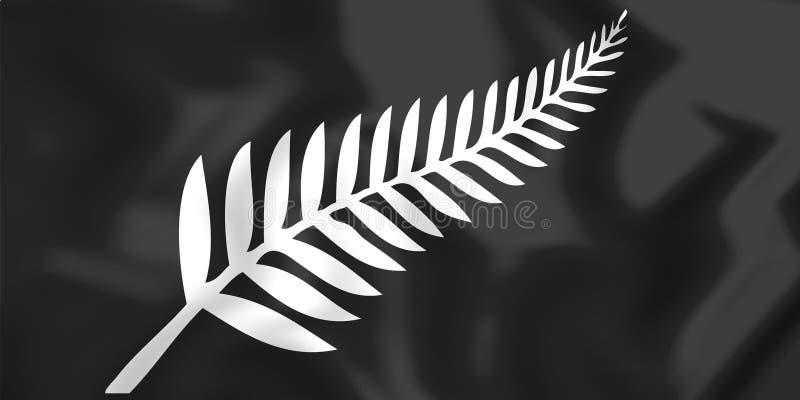 Fern Flag de plata, Nueva Zelanda stock de ilustración