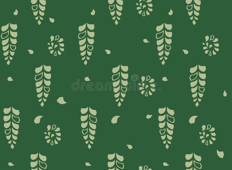 Fern Leaf Seamless Pattern japonés stock de ilustración