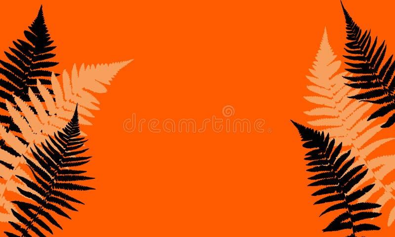Fern Leaf Vector Background Illustration stock de ilustración