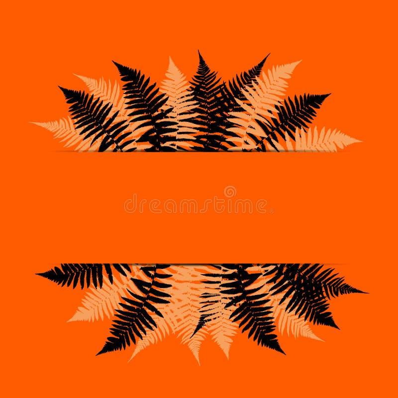 Fern Leaf Vector Background Illustration libre illustration