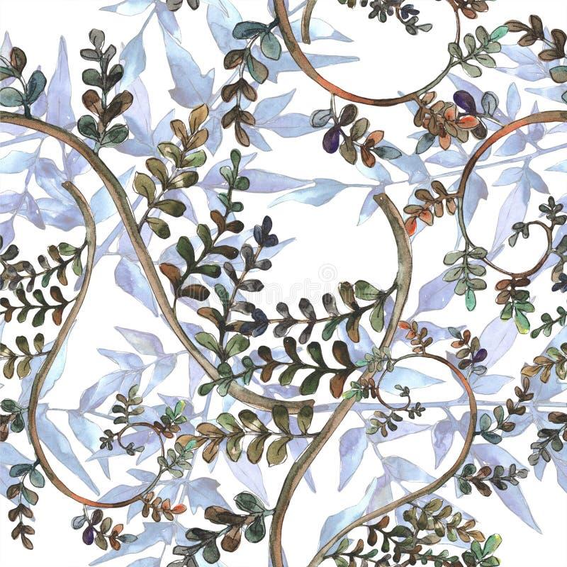 Fern Leaves Follaje floral del jardín botánico de la planta del freno de la hoja Modelo inconsútil del fondo libre illustration