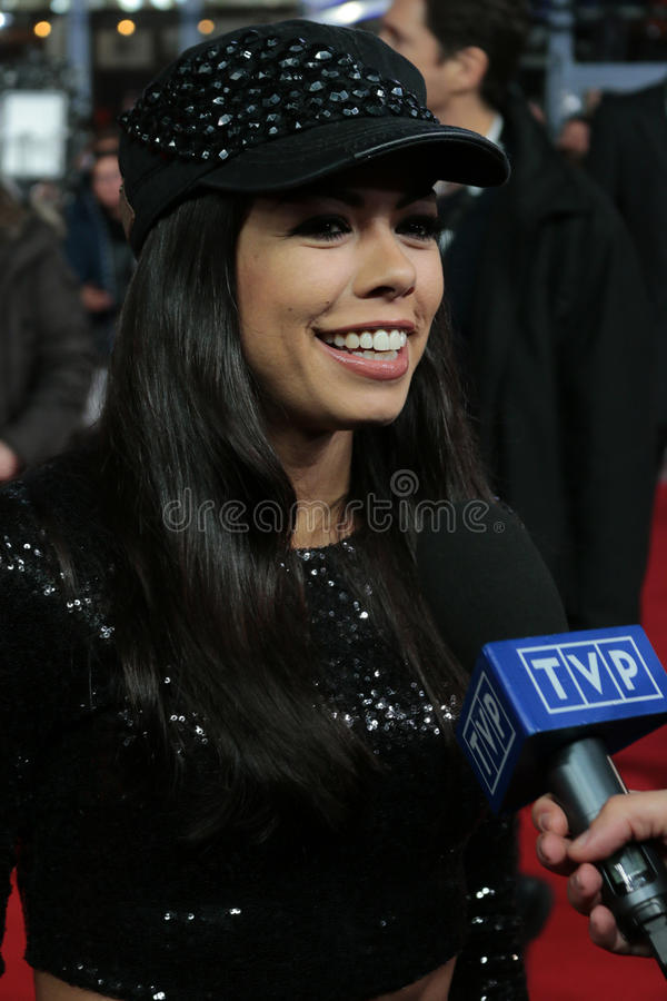 Fernanda Brandao. NOVEMBER 10, 2014 - BERLIN: Fernanda Brandao - premiere of the documentary film Die Mannschaft (the team) about the win of the football world royalty free stock photo