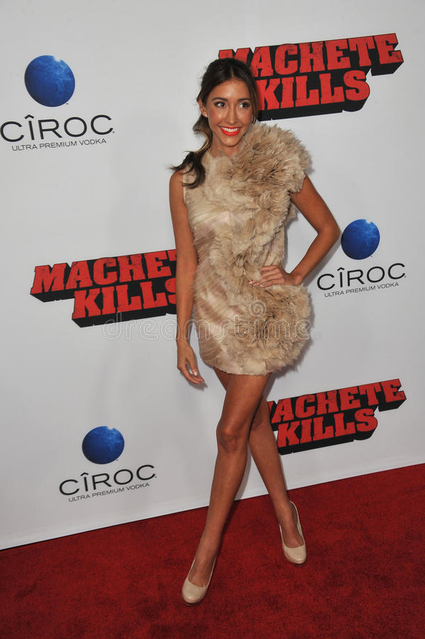 Fernanda Romero. LOS ANGELES, CA - OCTOBER 2, 2013: Fernanda Romero at the Los Angeles premiere of Machete Kills at the Regal Cinemas LA Live stock photo