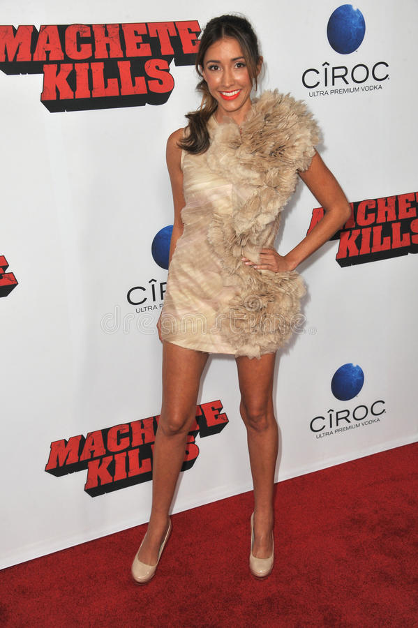 Fernanda Romero. LOS ANGELES, CA - OCTOBER 2, 2013: Fernanda Romero at the Los Angeles premiere of Machete Kills at the Regal Cinemas LA Live stock photography