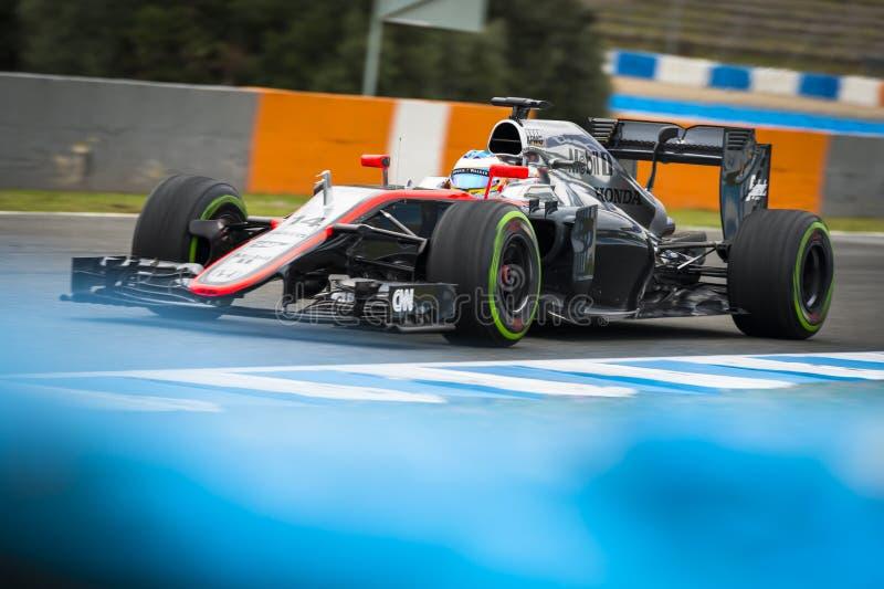 Fernando Alonso 2015 obrazy stock