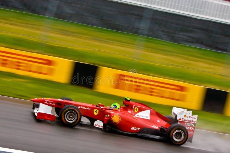 Fernando Alonso die bij de Grand Prix van Montreal rent royalty-vrije stock afbeeldingen