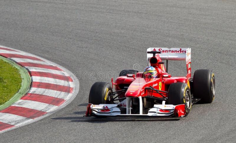 Fernando Alonso (Ferrari) photo libre de droits