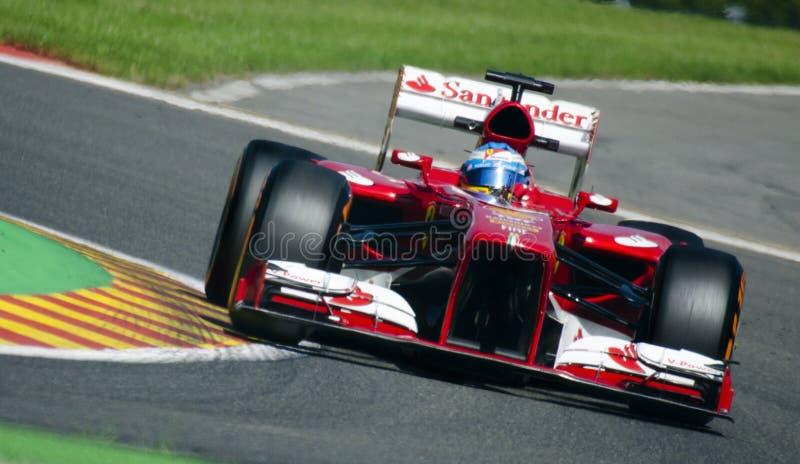Fernando Alonso Ferrari στοκ φωτογραφίες