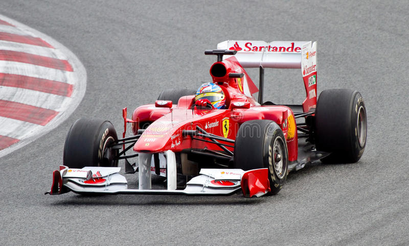 Fernando Alonso, Ferrari F1 photo libre de droits
