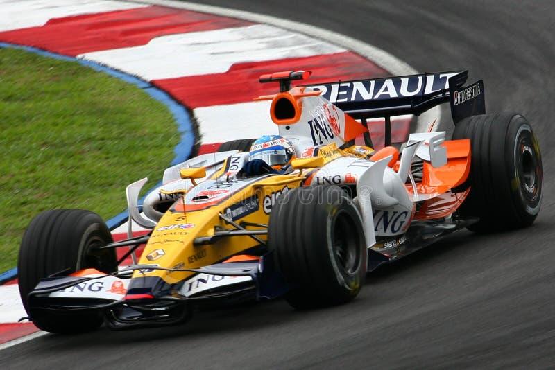 Fernando Alonso, ING Renault F1 Team royalty free stock image