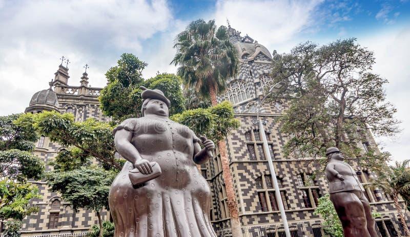 Fernando Botero Sculpture op Plein Botero, Medellin, Colombia royalty-vrije stock foto