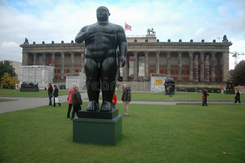 Fernando Botero skulpturer arkivfoto