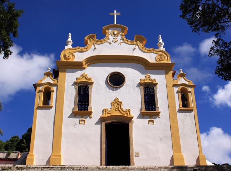 Fernando de Noronha Colonialkirche lizenzfreie stockbilder