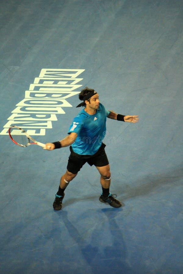 Fernando Gonzalez at the Australian Open 2010 royalty free stock image
