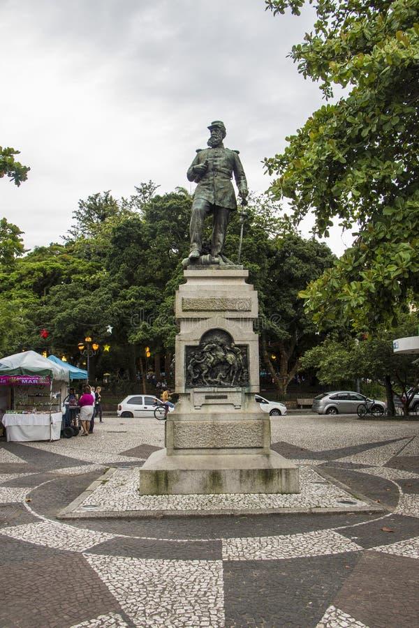 Fernando Machado statue - Florianópolis/SC - Brazil. Fernando Machado statue in Fernando Machado Square - City historic downtown - Florianópolis - Santa stock photography