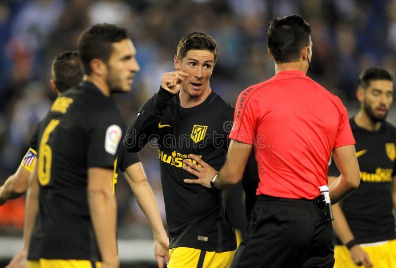 Fernando Torres von Atletico De Madrid lizenzfreie stockbilder