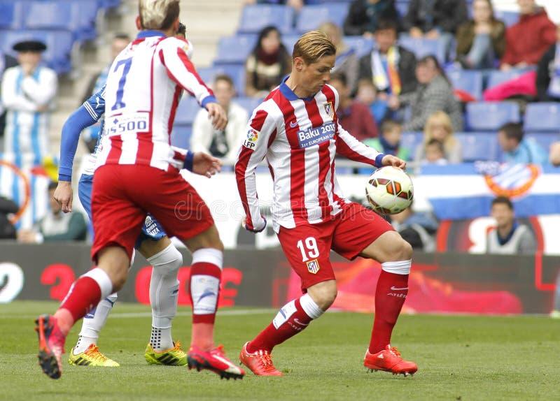 Fernando Torres von Atletico Madrid lizenzfreies stockbild