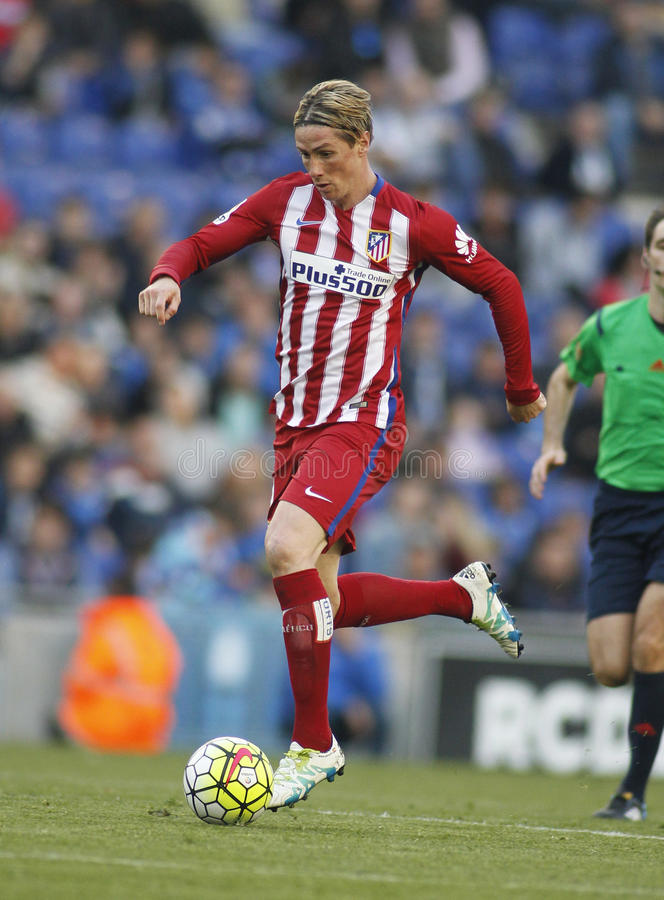 Fernando Torres von Atletico Madrid stockbilder
