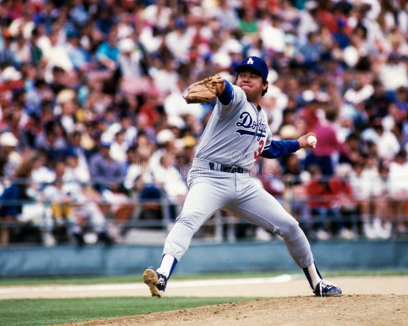 Fernando Valenzuela Los Angeles Dodgers fotografering för bildbyråer