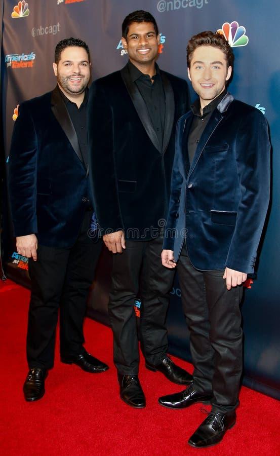 Fernando Varela, Sean Panikkar, Josh Page photo stock