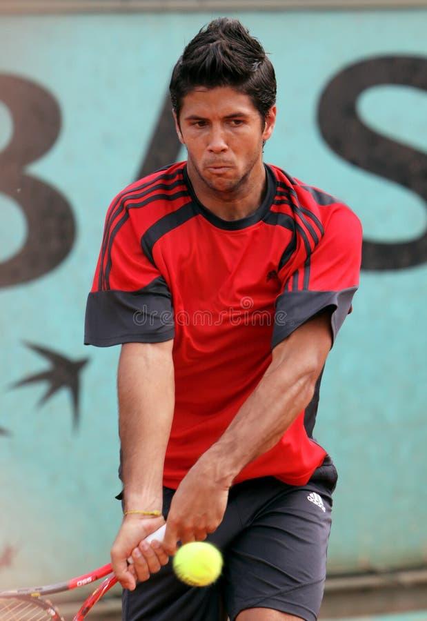 Fernando Verdasco (ESP) at Roland Garros 2009 royalty free stock photo