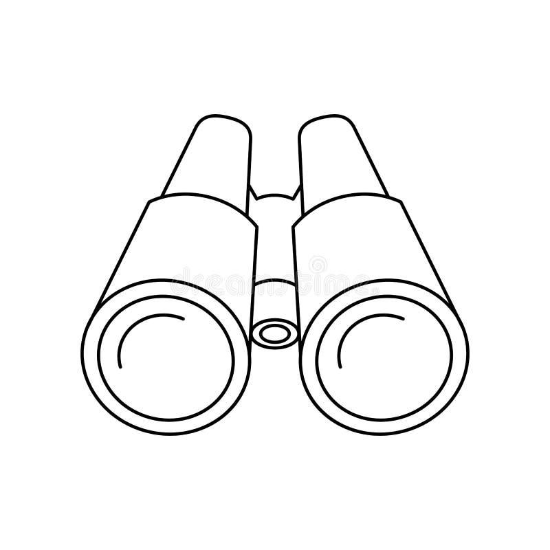 Ferngläser der Ikone vektor abbildung