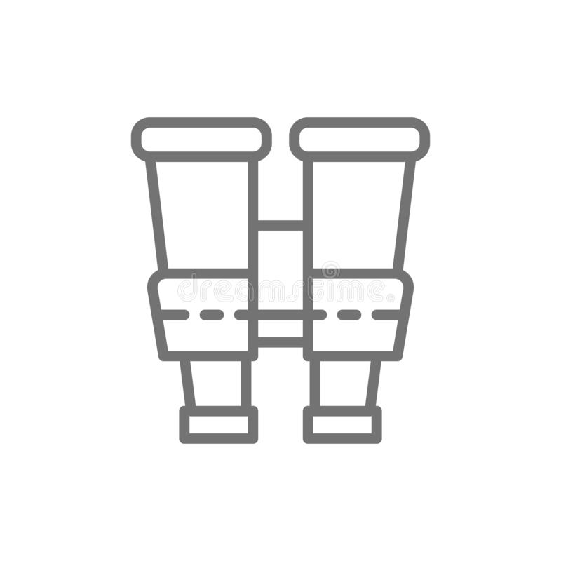 Ferngläser, Spionslinie Ikone vektor abbildung