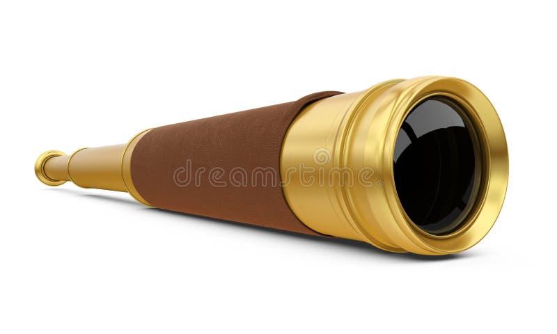 Fernglas-Teleskop lokalisiert lizenzfreie abbildung