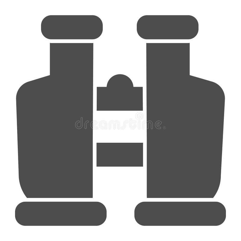 Fernglask?rperikone r Spion Glyph-Artentwurf, bestimmt f?r Netz und App lizenzfreie abbildung