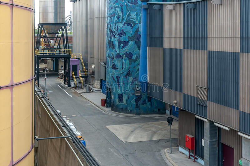 Fernheizungsanlage in Wien stockfotos