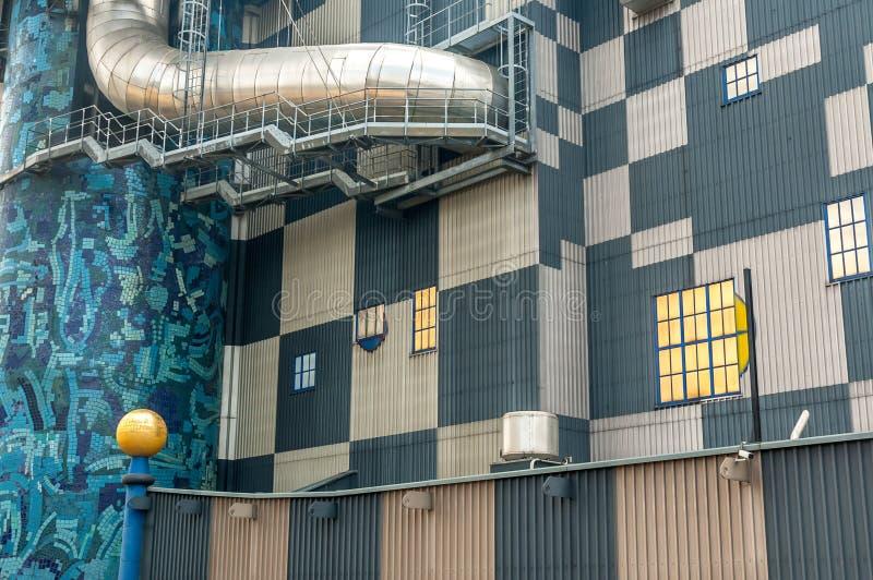 Fernheizungsanlage in Wien stockfoto
